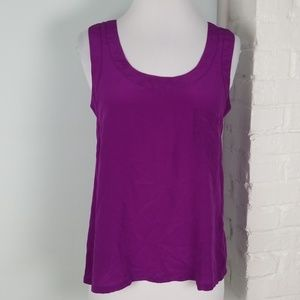 Olivaceous Silk tank